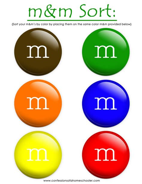 m and m colors prek letter m confessions of a homeschooler