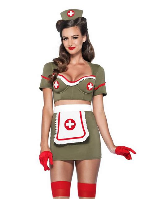 Military Home Decorations sexy pin up nurse costume