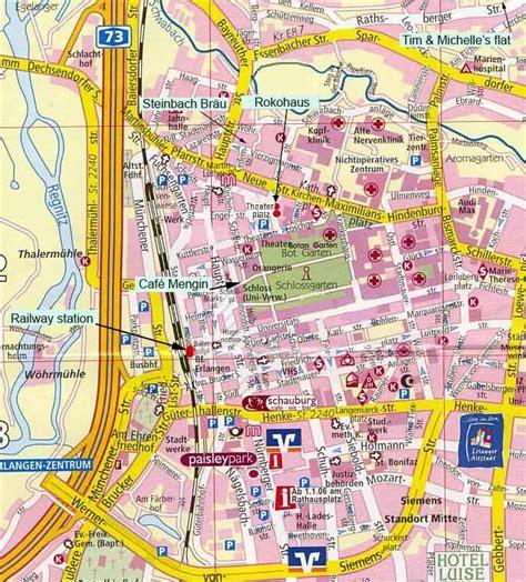 map of erlangen germany erlangen map