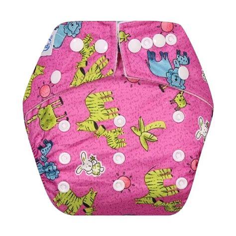 Harga Clodi Merk Babyland jual babyland snap microfiber clodi popok kain bayi pink