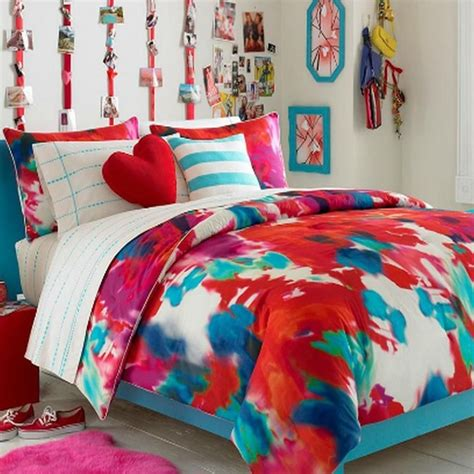 art bedding teen vogue bedding poppy art floral full queen comforter set