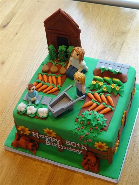 Allotment Garden Birthday Cake Cake Art Novelty Garden Birthday Cakes Ideas