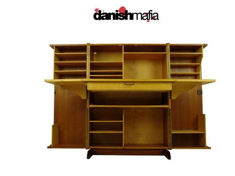 Modern Folding Desk by Vintage Mid Century Modern Teak Folding Desk Hutch