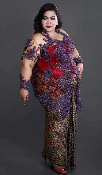 model kebaya modern lengan pendek untuk orang gemuk model kebaya untuk wanita gemuk tips pintar memilih