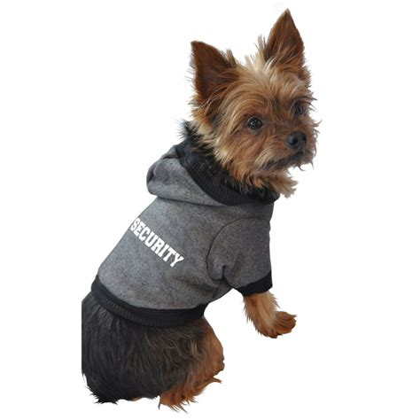 how to security dogs security hoodie clothes for dogs at glamourmutt