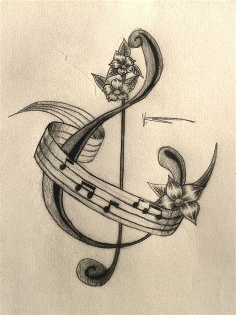 music and flower tattoo designs piano images designs