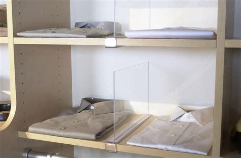 Closet Shelf Dividers by Custom Closets