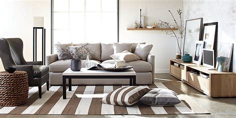 Crate And Barrel Living Room Ideas New Traditions In Living Room Crate And From Crate And Barrel