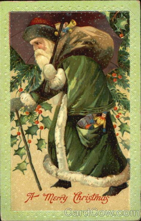 santa  green robe santa claus
