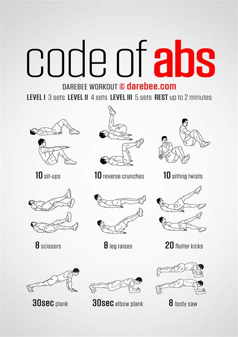 code of abs workout