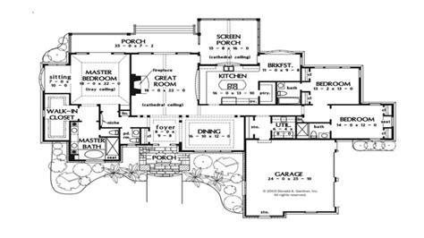 Large 1 Story House Plans by Large One Story House Plans One Story Luxury House Plans