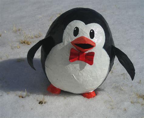 Paper Mache - paper mache penguin so i ve been with paper