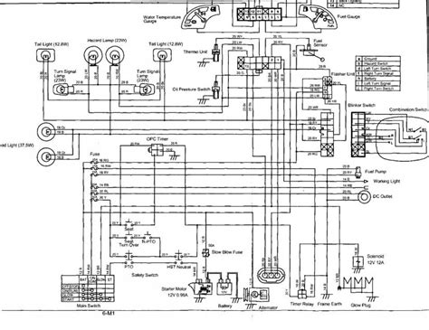 kubota tractor alternator wiring diagrams ideas