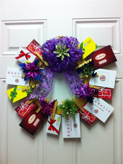 Gift Card Wreath - gift card wreath gift card trees and gift card wreaths pinterest