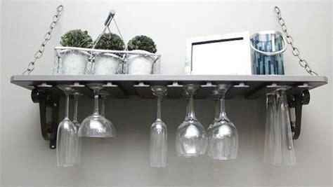 Wineglass Shelf by Diy Wine Glass Shelf Knock It The Live Well Network
