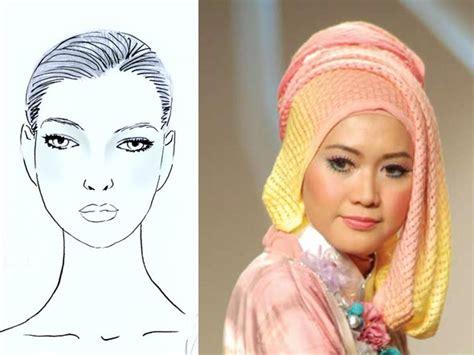 muka lonjong penggunaan hijab sesuai bentuk wajah tutorial pashmina
