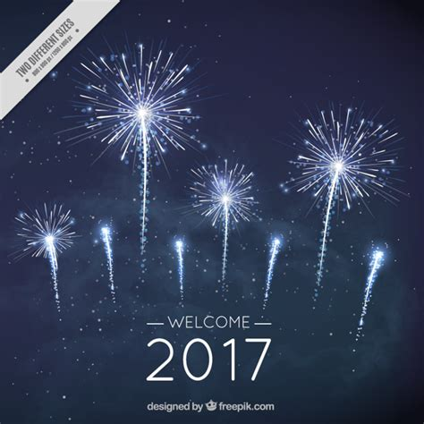 new blue color new year fireworks background in blue color vector