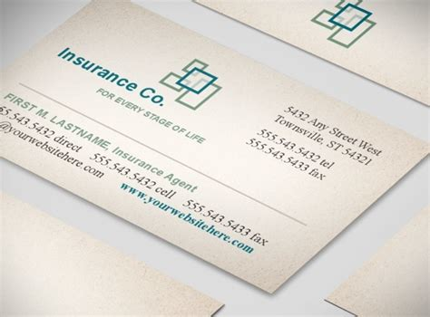 insurance agency business card templates