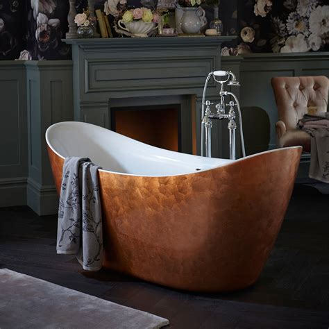heritage hylton freestanding acrylic bath copper effect