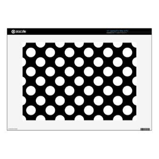 dot pattern on skin black and white laptop skins black and white macbook