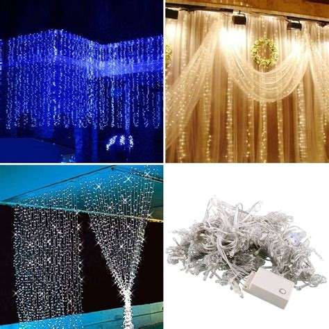 shipping   led curtain happy  year lights