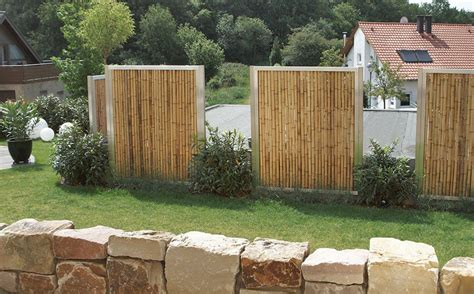 Sichtschutz Bambus Garten by Sichtschutz Aus Bambus Mit Edelstahlrahmen Bamboo With