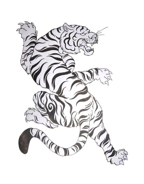 chinese tiger tattoo tribal tiger design