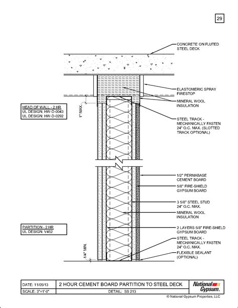 2 Hour Floor Ceiling Assembly by 1 Hour Concrete Floor Assembly Gurus Floor