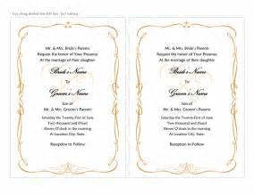 wedding invitation templates wedding invitation templates sle format