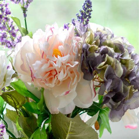 Peony Flower Hydrangea artificial pink peony and hydrangea flower arrangement by