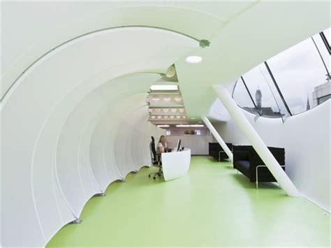 How To Do Minimalist Interior Design by Reception Screen Dentsu Central London