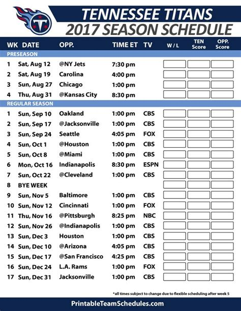 printable schedule for dallas cowboys 38 best nfl football schedule 2017 images on pinterest