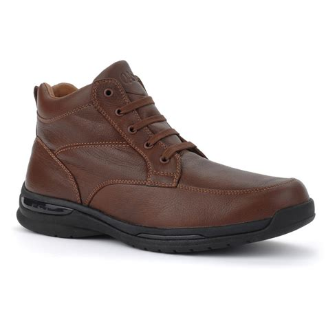 Comfort Shoes by Oasis Shoes Mens Jackson Comfort Boots Brown