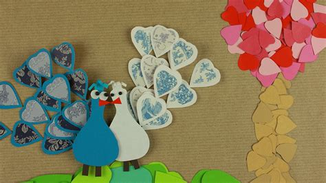 How To Make A Collage With Paper - collage with paper hearts simple ideas for valentines