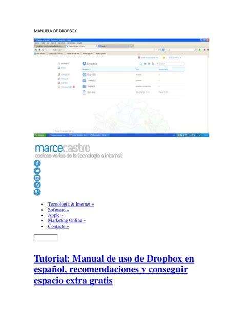 dropbox manual manual de dropbox