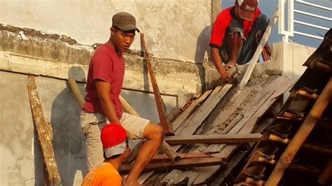 membuat anak tangga membuat plat beton tangga rumah youtube