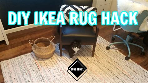 tanum rug ikea diy ikea tanum rug hack make a giant rug easy youtube