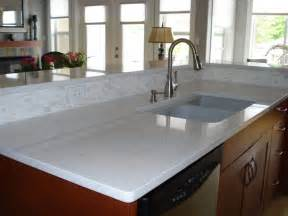 White Quartz Kitchen Countertops Quartz Countertops A Durable Easy Care Alternative