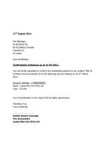 Audit Confirmation Template by Letter Format 187 Bank Confirmation Letter Format Cover