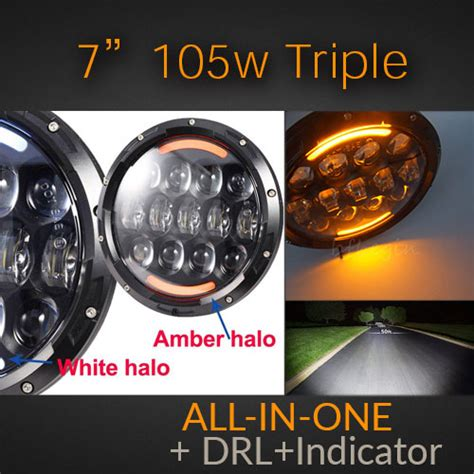 Toyota Avanza Veloz Led Osram L Nbr H4 Laser Led Headlight 7 Inch 105 Watt With White All In One Indicator Drl
