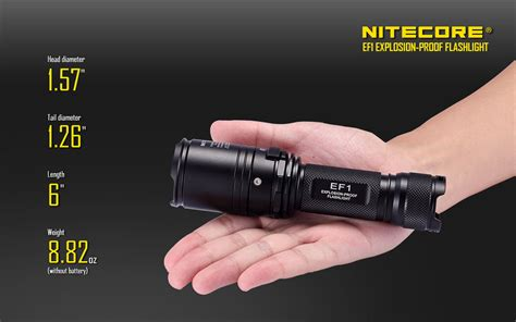 Senter Gas Proof senter explosion proof nitecore ef1 anti meledak