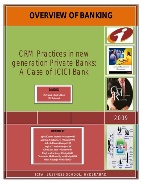 overview of icici bank crm at icici bank