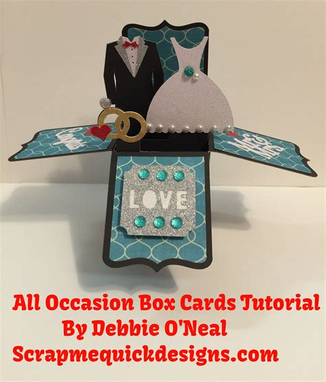 Boxed Com Gift Card - cricut all occasion box cards cartridge tutorial youtube