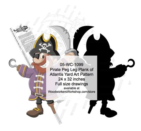 pattern for pirates walk the plank pirate peg leg plank of atlantis yard art woodworking