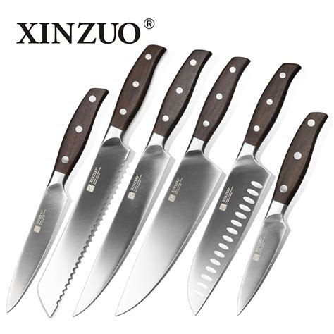 kitchen knives ratings oyster knife bread from kitchen xinzuo kitchen tools 6 pcs kitchen knife set utility