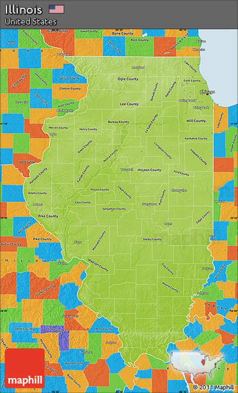 illinois physical map free physical map of illinois political outside