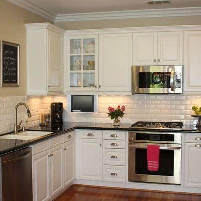 black and white tile kitchen ideas white subway tile kitchen ideas white cupboards black