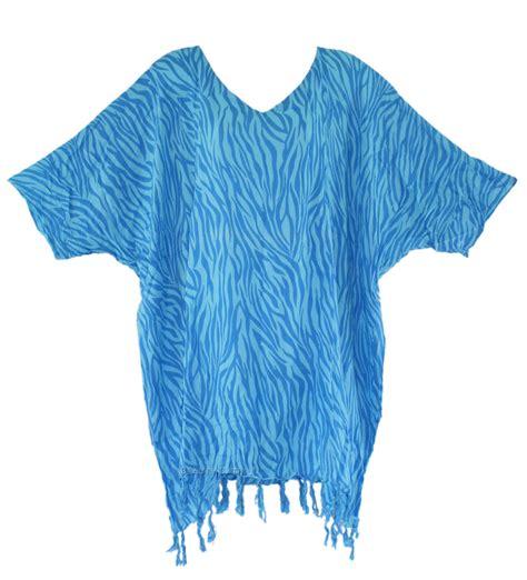 Blue Batik Tops blue batik blouse tunic kaftan caftan top plus size