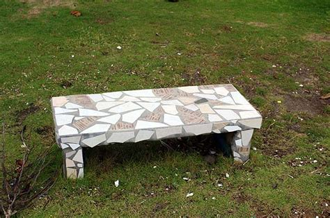 concrete patio benches house building ideas concrete garden bench