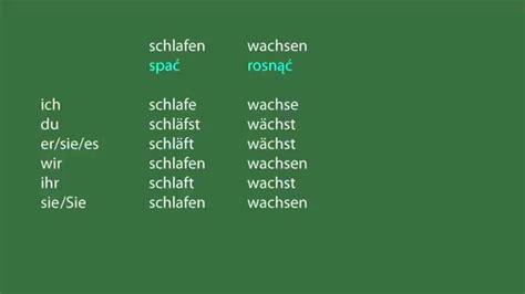Nauka Niemieckiego Odmiana Czasownika Schlafen Wachsen